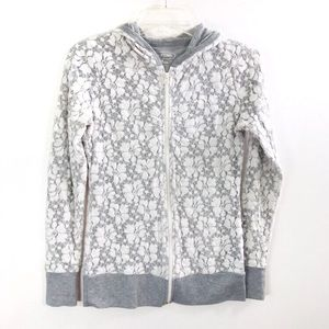 Maurice's White Lace Hoodie Zip Jacket Medium